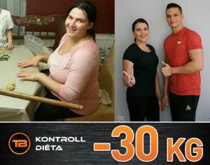 30Kg fogyás kontroll diéta Turó Balázs