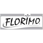 Florimo virágföld fekete fehér logó